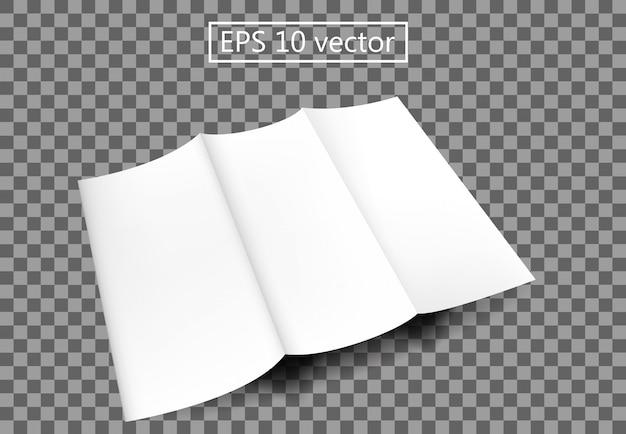 Brochure di carta bianca Vettore Premium