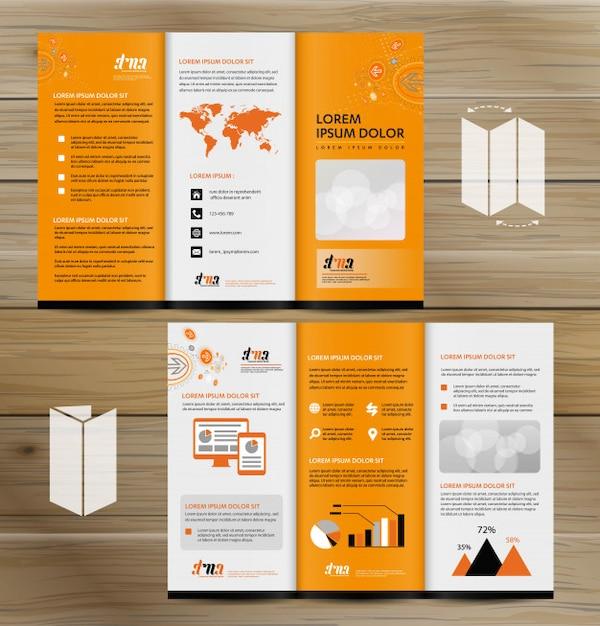 Dimensioni Pieghevole 3 Ante.Brochure Pieghevole In Tre Dimensioni Rendering Realistico Di