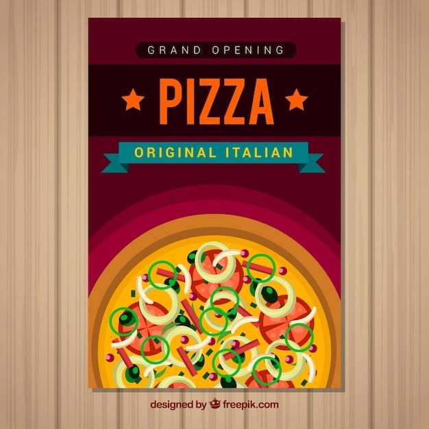 Brochure pizza italiana Vettore gratuito