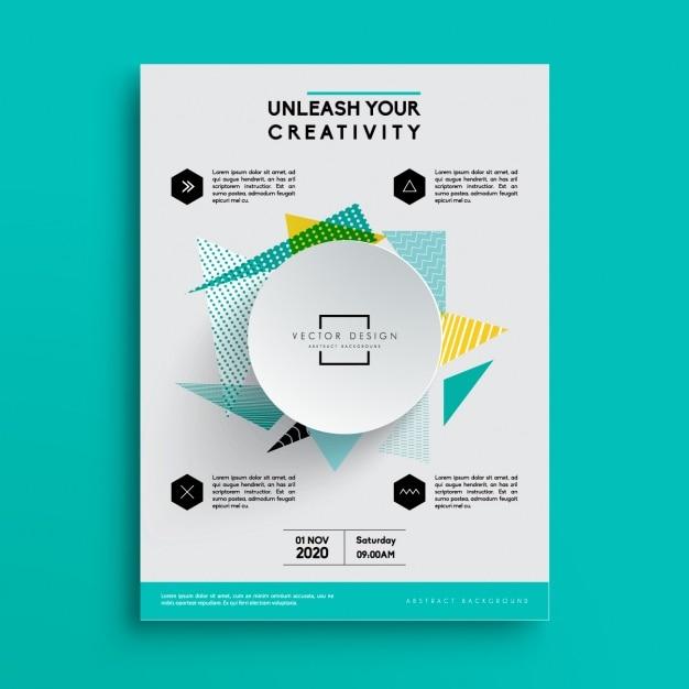 Brochure template affari Vettore gratuito