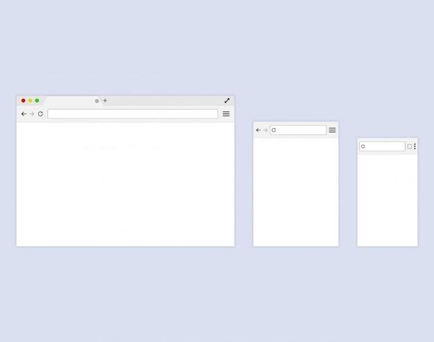 Browser o browser web in stile piatto Vettore Premium