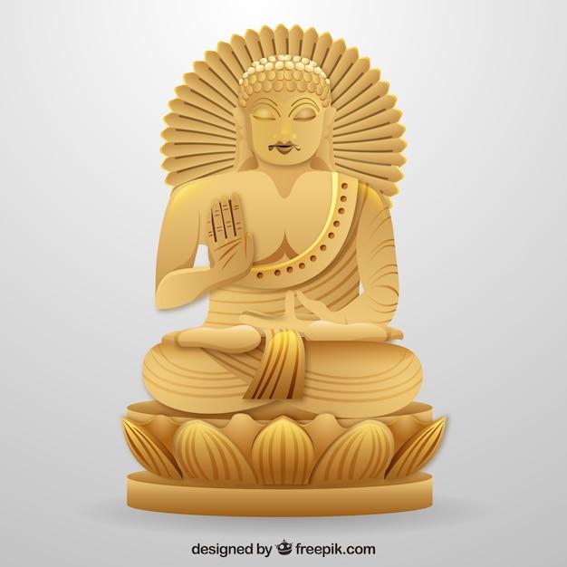 Budha tradizionale con stile realistico Vettore gratuito