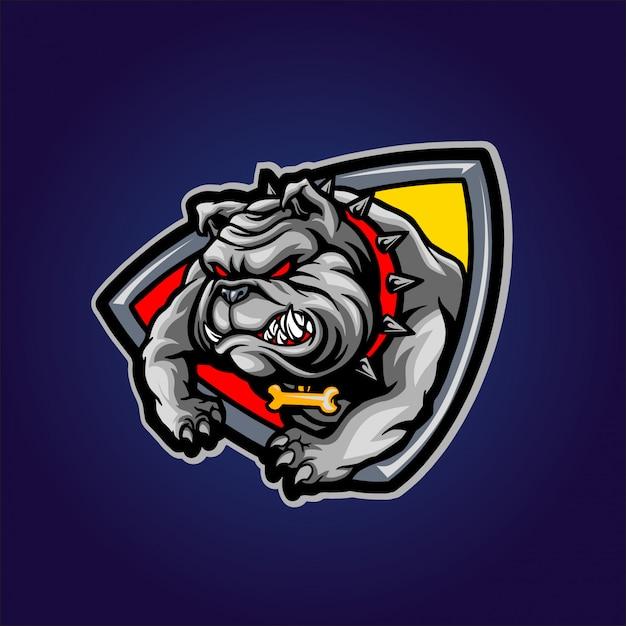 Bulldog arrabbiato Vettore Premium
