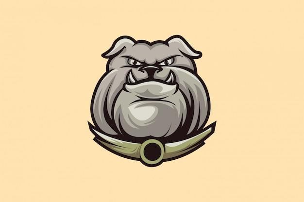 Bulldog logo sport Vettore Premium