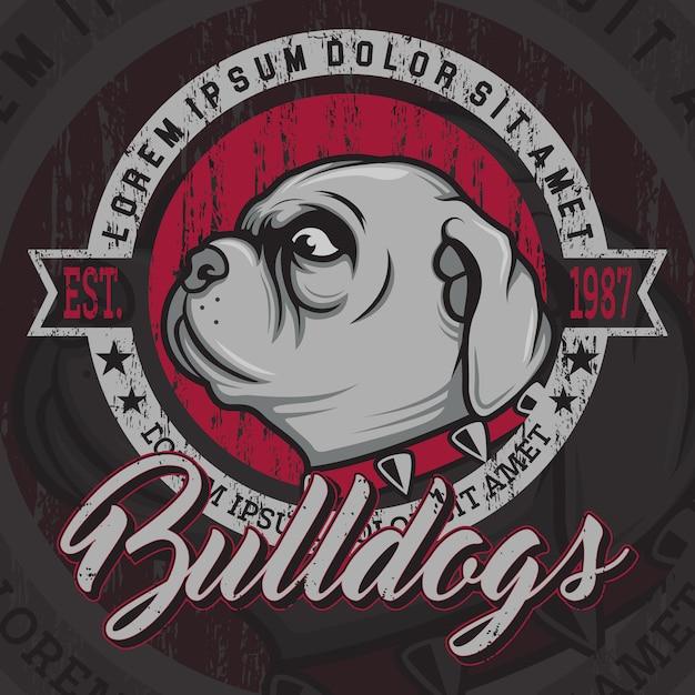 Bulldogs sfondo disegno Vettore gratuito