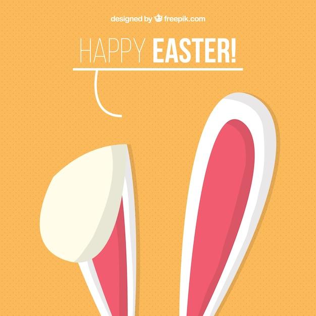 Bunny orecchie di sfondo Vettore gratuito