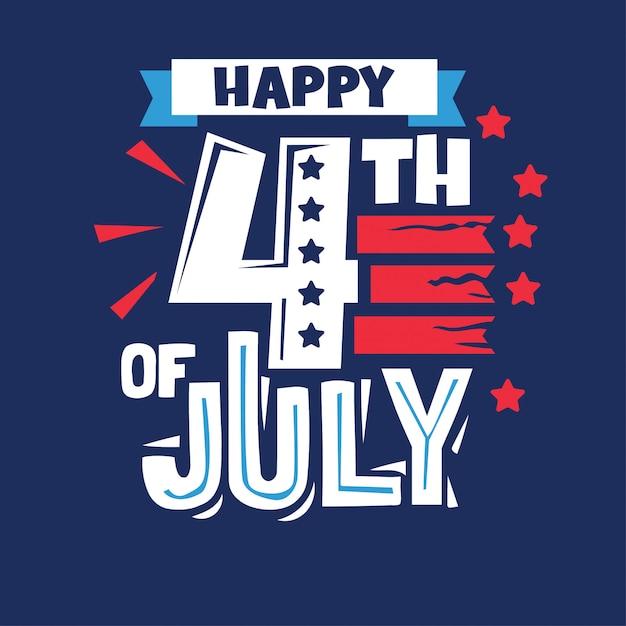 Buon 4 luglio. giorno dell'indipendenza usa per holiday design Vettore Premium
