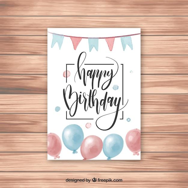 Buon compleanno biglietto di auguri con confetti Vettore gratuito