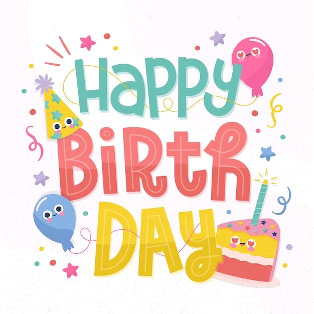Buon compleanno, concetto Vettore gratuito
