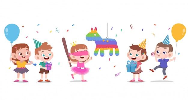 Buon compleanno per bambini Vettore Premium