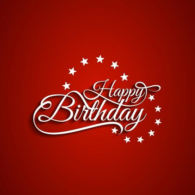Buon Compleanno Sfondo Rosso Scaricare Vettori Gratis