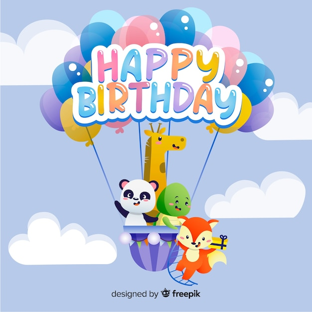 Buon compleanno sfondo Vettore gratuito