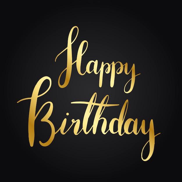 Buon compleanno stile tipografia vettoriale Vettore gratuito