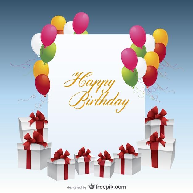 Top Buon compleanno vettoriale cartolina | Scaricare vettori gratis SD21
