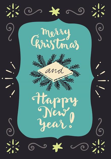 Buon Natale E Felice Anno Nuovo Cartolina Dauguri Di