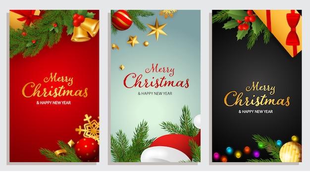 Buon natale e felice anno nuovo design con jingle bells Vettore gratuito
