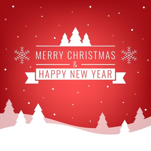 Buon natale e felice anno nuovo Vettore Premium