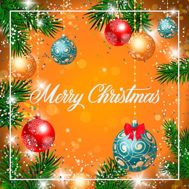 Immagini Buon Natale Gratis.Buon Natale Lettering In Frame Scaricare Vettori Gratis