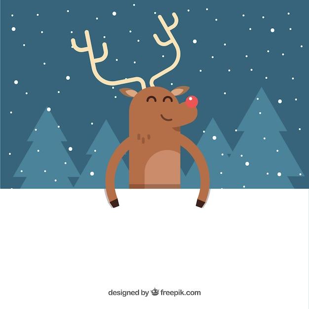 Sfondi Natalizi Renne.Buon Natale Renna Sfondo Scaricare Vettori Gratis