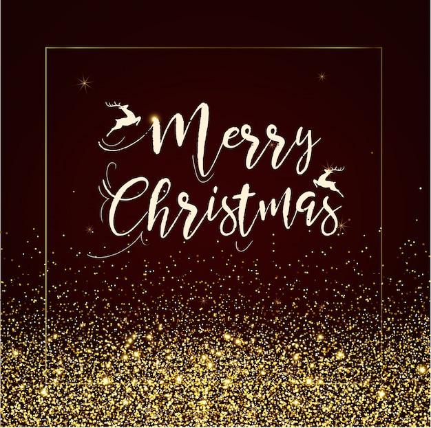 Buon Natale Glitter.Buon Natale Sfondo Glitter Scaricare Vettori Premium