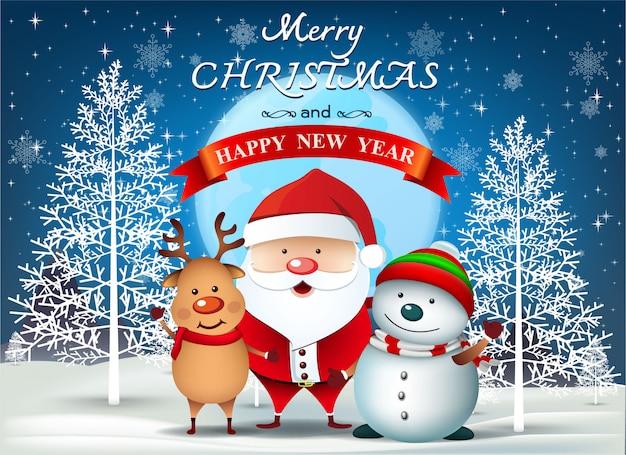 Buon Natale Tutti.Buon Natale Tutti Auguri Scaricare Vettori Premium