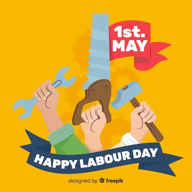 Buona festa dei lavoratori Vettore gratuito