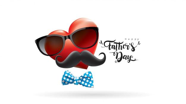 Buona festa del papà Vettore Premium