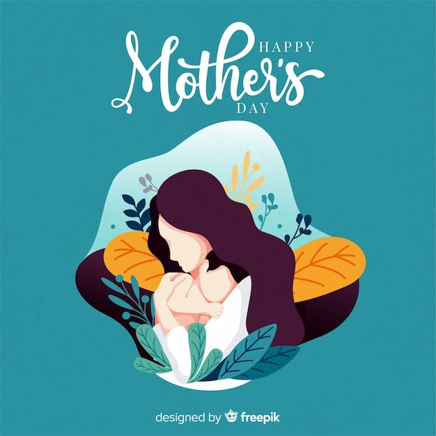 Buona festa della mamma Vettore gratuito