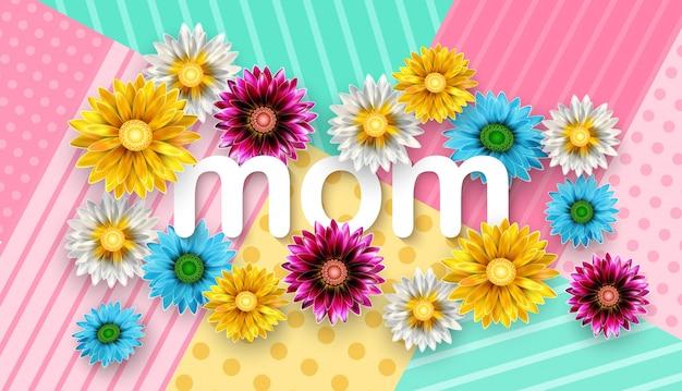 Buona festa della mamma Vettore Premium