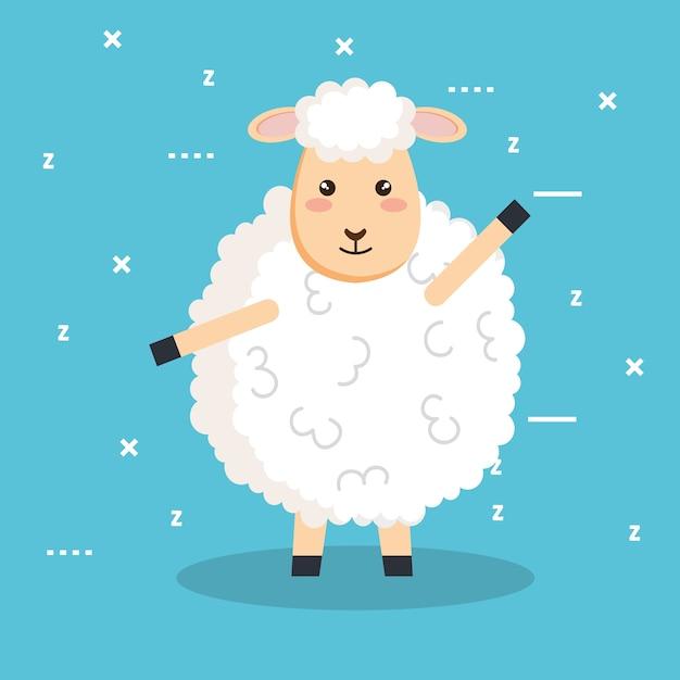 Buonanotte Dormire Animali Delle Pecore Del Fumetto