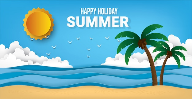 Buone vacanze estive. Vettore Premium