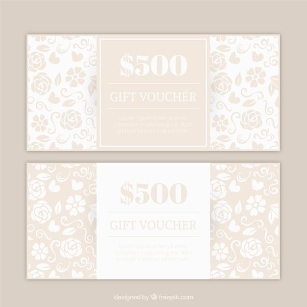 buono omaggio floreale in colore beige scaricare vettori gratis. Black Bedroom Furniture Sets. Home Design Ideas