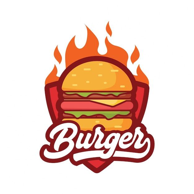 Burger logo Vettore Premium