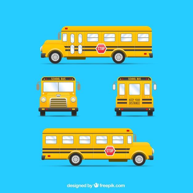 Bus giallo Vettore gratuito