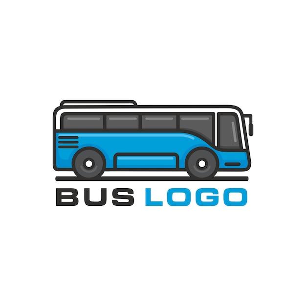 Bus, modello di vettore di logo di autobus di viaggio Vettore Premium