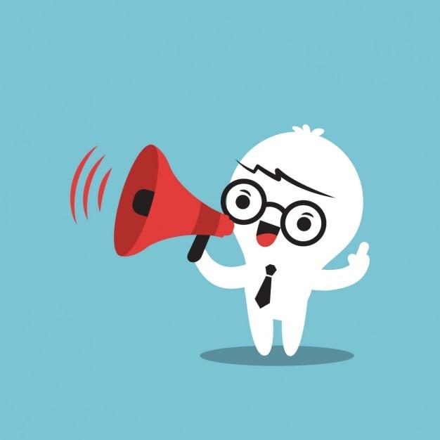 Business cartone animato con il megafono scaricare