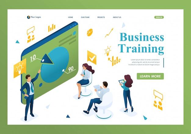 Business coach addestra i dipendenti dell'azienda. Vettore Premium