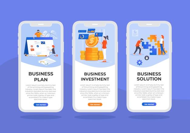 Business-mobile-ui-design-template Vettore Premium