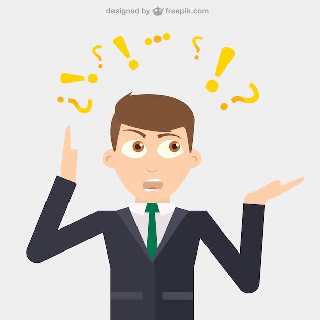 Businessman pensiero vettore Vettore gratuito