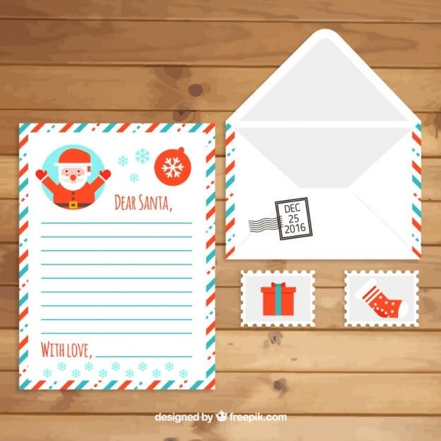 Le Lettere Di Babbo Natale.Busta Con La Lettera Di Babbo Natale E Francobolli Scaricare