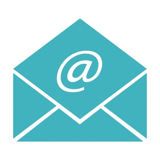 Busta con segno di posta elettronica Vettore gratuito