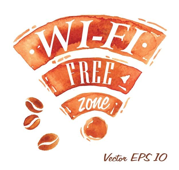 Caffè wi-fi Vettore Premium