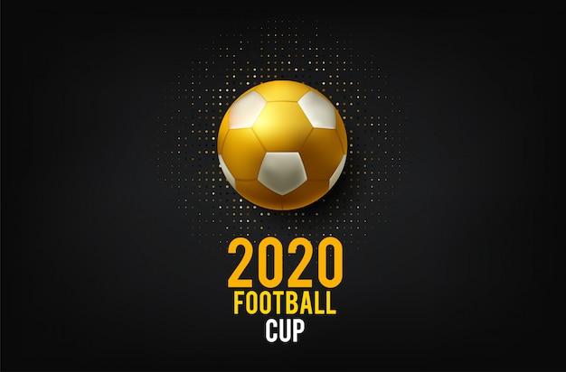 Calcio del fondo della tazza di campionato del mondo di calcio Vettore Premium