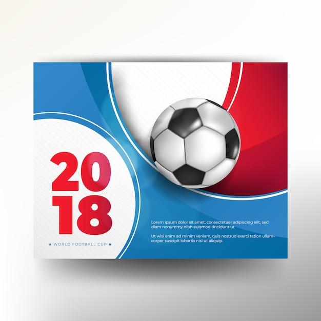 Calcio della priorità bassa della tazza di campionato del mondo di calcio 2018 Vettore Premium
