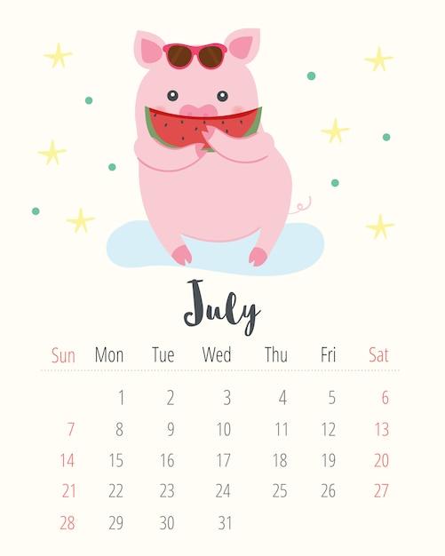 Calendario 2019. Vettore Premium