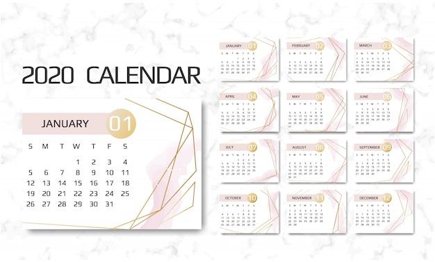 Calendario 2020 Vettoriale Gratis.Calendario 2020 Scaricare Vettori Premium