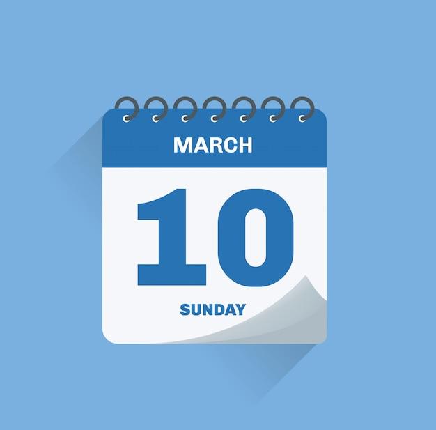 Calendario del giorno Vettore Premium