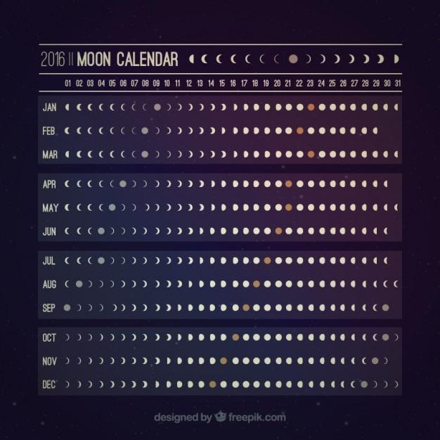 Calendario Lune.Calendario Lunare Utile Scaricare Vettori Gratis