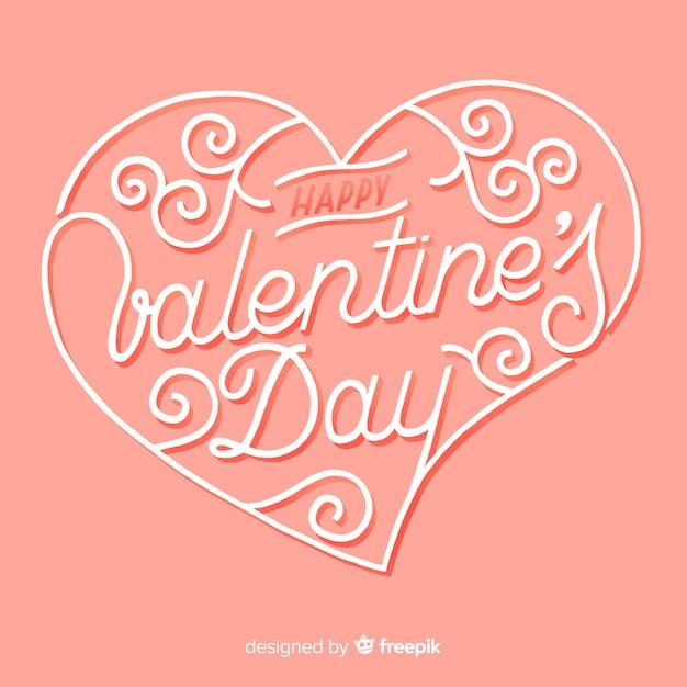 Caligraphic san valentino sfondo Vettore gratuito