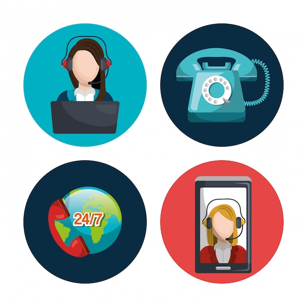 Call center design Vettore gratuito